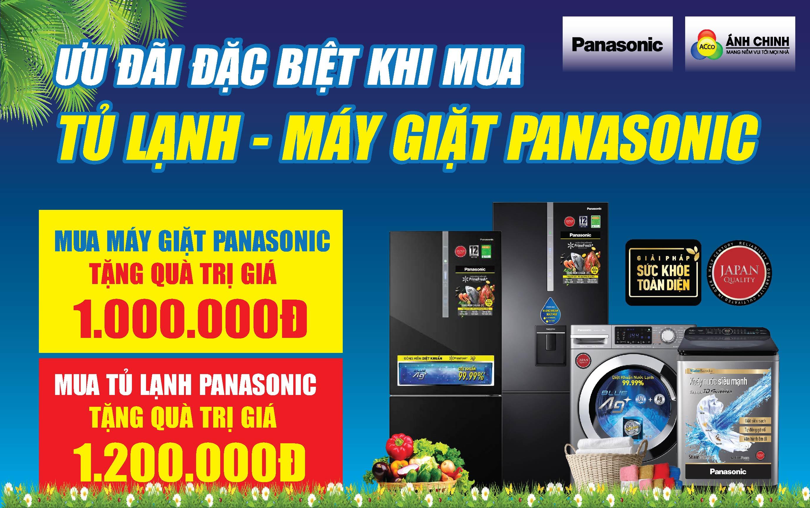 Tặng quà đến 1.200.000đ khi mua Máy giặt, Tủ lạnh Panasonic