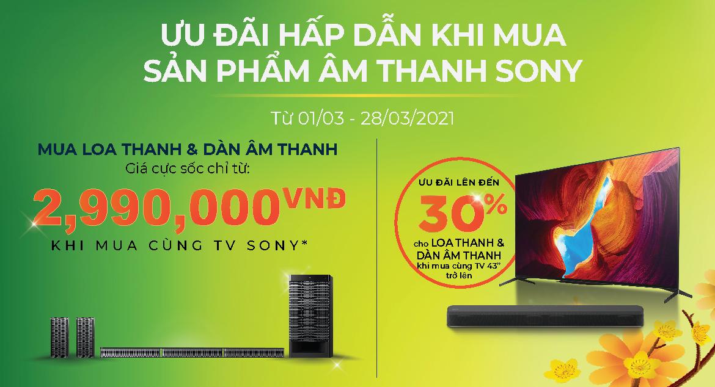 Dàn âm thanh Soundbar Sony giảm giá 30%