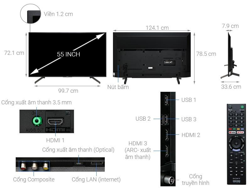 Tivi sony 55 inh KD-55X7000G