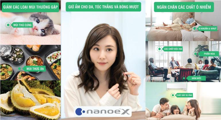 Công nghệ NanoeX trên máy lạnh XPU Panasonic