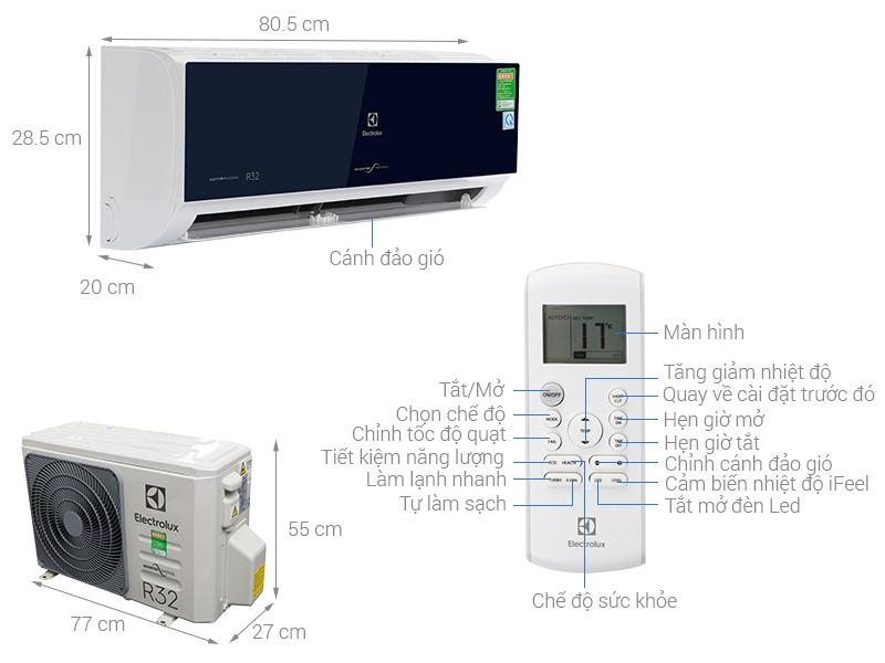 Thông số máy điều hòa ELectrolux ESV09CRO-C1