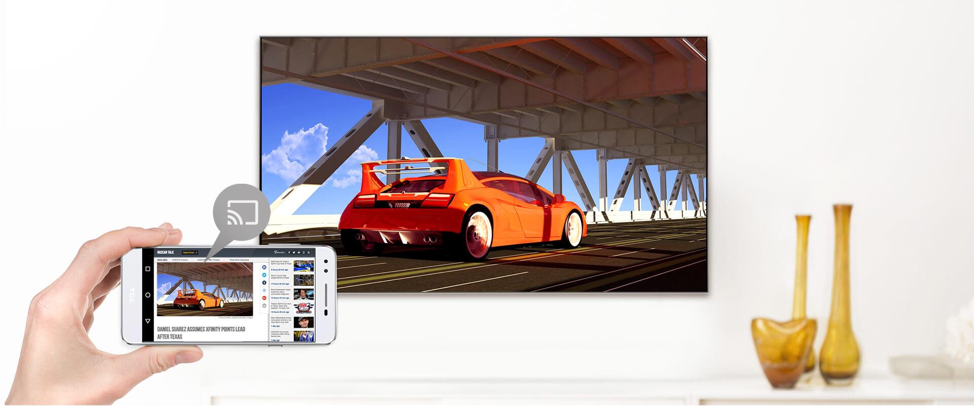 Smart tivi TCL43 inch L43S5200 TRUYỀN TỚI MÀN HÌNH LỚN HƠN, TỐT HƠN VỚI CHROMECAST