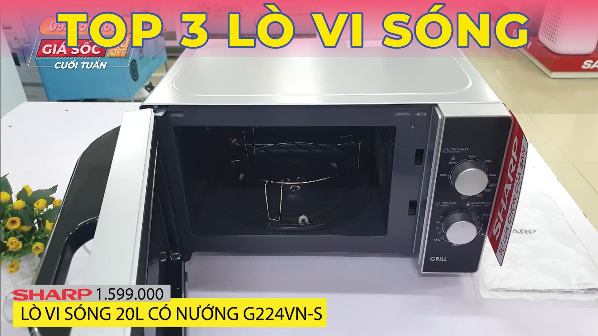 Top 3 lò vi sóng giá rẻ bán chạy tại Ánh Chinh 2020