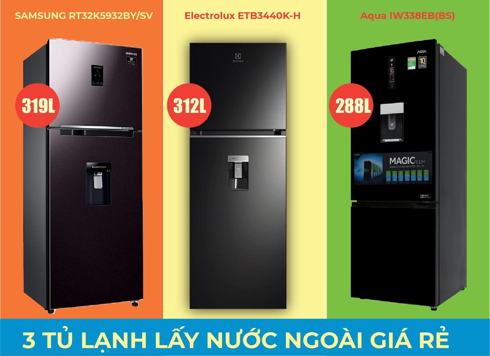 Top 4 tủ lạnh lấy nước ngoài tầm giá 10 triệu