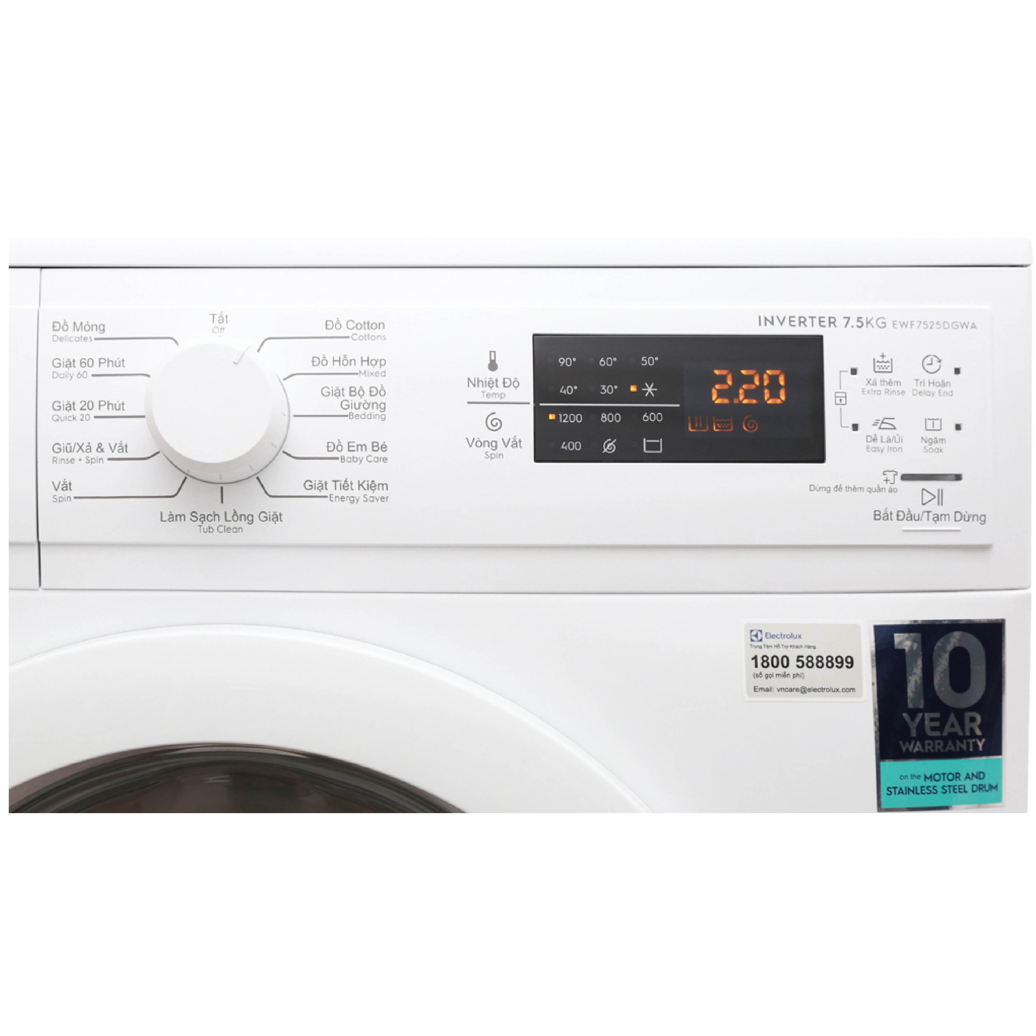 Máy giặt Electrolux 8kg EWF8025DGWA