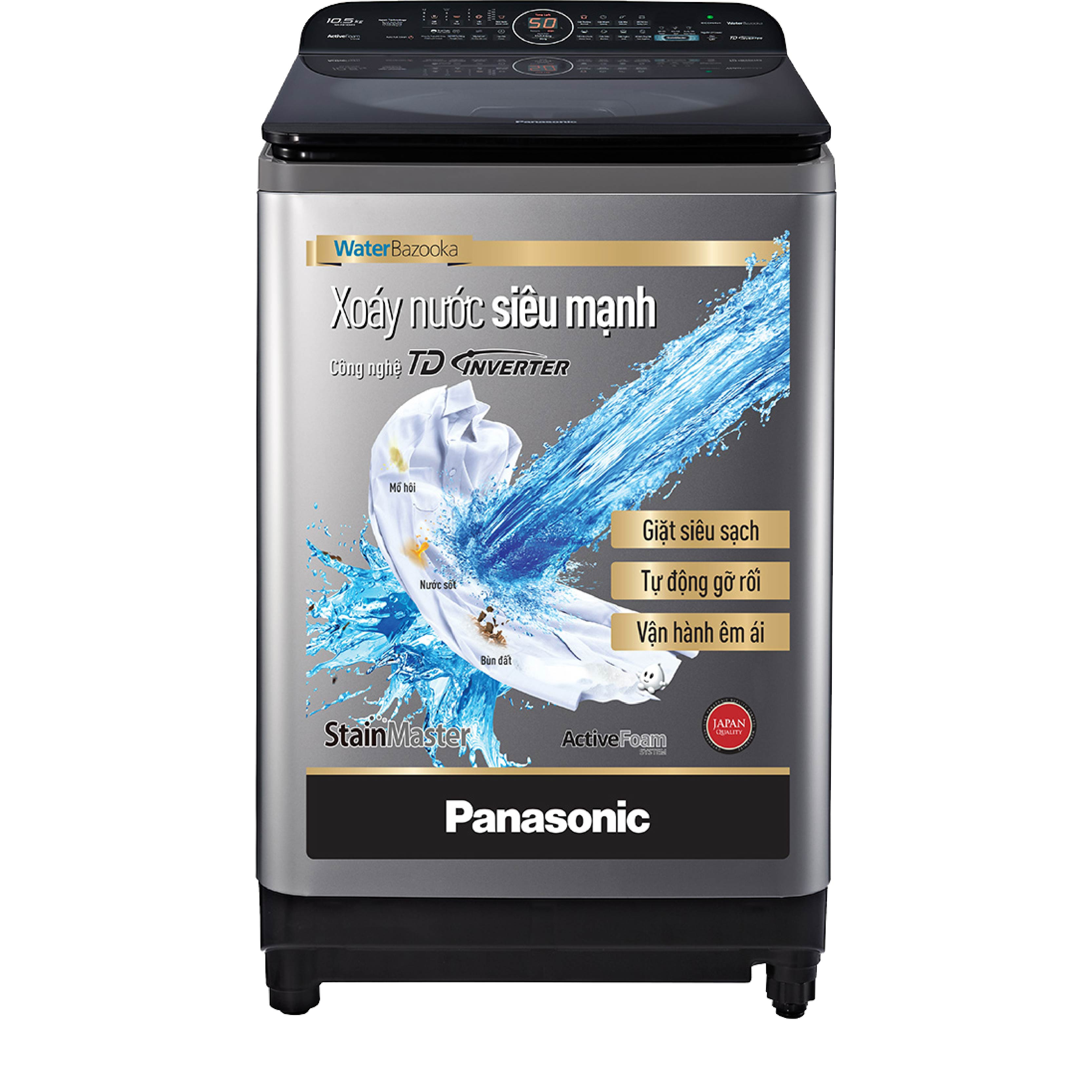Máy giặt cửa trên Panasonic inverter 10.5kg NA-FD10XR1LV
